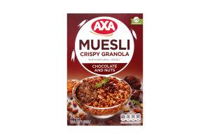 Мюсли медовые с шоколадом и орехами Axa к/у 375г