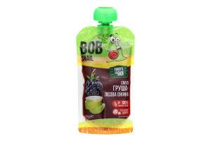 Пюре фруктовое Смузи Груша-лесная ежевика Bob Snail д/п 120г
