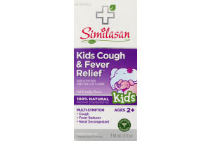 Similasan Kids Cough & Fever Relief Cough & Fever Syrup Kids Ages 2+ Multi-Symptom