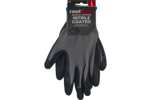 True Grip General Purpose Nitrile Coated Gloves Large
