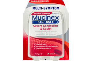 Mucinex Fast-Max Severe Congestion & Cough Caplets - 20 CT