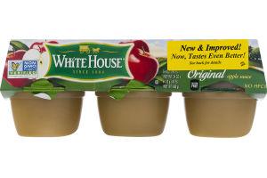 White House Apple Sauce Original Cups - 6 Pk