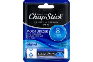 ChapStick Skin Protectant Sunscreen SPF 12 Moisturizer Original