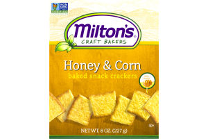 Milton's Craft Bakers Honey & Corn Baked Snack Crackers