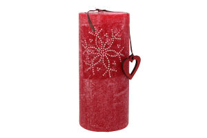 Свечка 7×15см бордовая Фокстейл 1шт