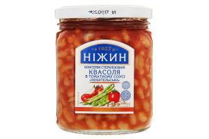 Фасоль в томатном соусе Любительская Ніжин с/б 450г
