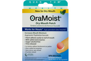 (CN) OraMoist Dry Mouth Patch - 16 CT, OraMoist Timbre Contre La Secheresse Buccale - 16 CT