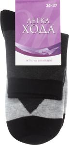 Шкарпетки жіночі Легка хода №5320 23 сірий меланж-срібло меланж