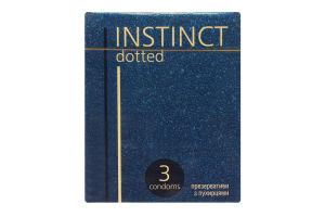 Презервативы Instinct латекс с пупырышками со смаз