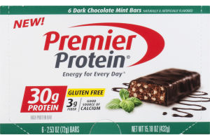 Premier Protein High Protein Bar Dark Chocolate Mint - 6 CT