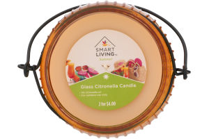 Smart Living Summer Glass Citronella Candle