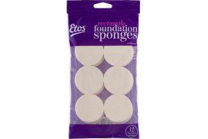 Etos Rectangle Foundation Sponges - 12 CT