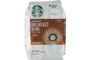 Starbucks Whole Bean 100% Arabica Coffee Breakfast Blend Medium