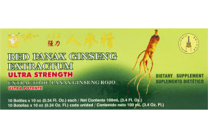 Prince of Peace Ultra Strength Red Panax Ginseng Extractum Dietary Supplement - 10 CT
