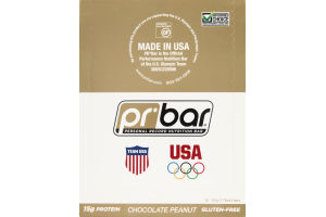 PR Bar Personal Record Nutrition Bar Chocolate Peanut Butter - Gluten Free - 12 Bars