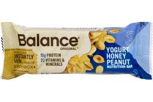Balance Nutrition Bar Yogurt Honey Peanut