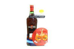 Вермут Martini Rosso 15% 0,5л +тонік 0,5л
