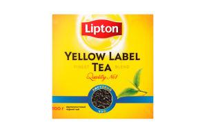 Чай чорний листовий Yellow Label Lipton 100г
