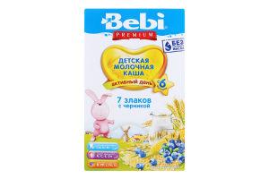 Каша молочна для дітей від 6міс 7 злаків з чорницею Premium Bebi к/у 200г