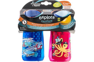 Tommee Tippee Explora Easiflow Non Spill Active Drinking Cups 12m+ - 2 CT