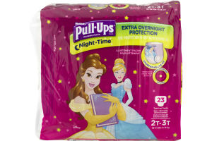 Huggies Pull-Ups Training Pants Night Time Glow In The Dark 2T-3T - 23 CT