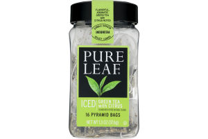 Pure Leaf Iced Green Tea With Citrus Pyramid Bags - 16 CT