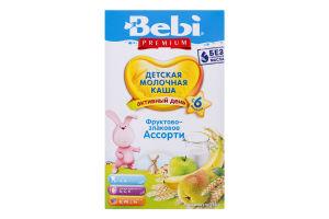 Каша молочная сухая для детей от 6мес Фруктово-злаковое ассорти Premium Bebi к/у 250г