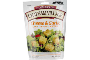 Chatham Village Homestyle Large Cut Baked Croutons Cheese & Garlic