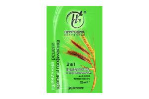 Шампунь с кондиционером для всех типов волос 2в1 Пшеничный рецепт Природна Скарбниця 10мл