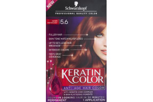 Schwarzkopf Keratin Color Permanent Anti-Age Hair Color 5.6 Warm Mahogany