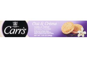 Carr's Oat & Creme Crunchy Biscuit Vanilla Creme
