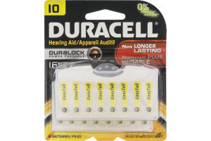Duracell Hearing Aid Batteries IO - 16 CT