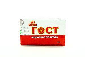 Мороженое ГОСТ Пломбир брикет Ласунка 90г
