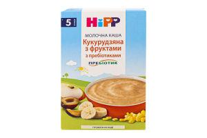 Каша молочна з пребіотиками для дітей від 5міс Кукурудзяна з фруктами Hipp к/у 250г