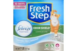 Fresh Step Odor Shield Clumping Cat Litter Febreze Freshness