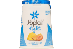 Yoplait Light Fat Free Yogurt Apricot Mango Sorbet