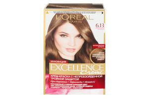 Крем-фарба для волосся Excellence Темно-русявий бежевий №6.13 L'Orеal