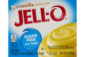 Jell-O Instant Pudding & Pie Filling Sugar Free Vanilla