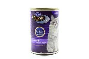 Корм Butcher's для котів Classic шматочки з ягняти з/б 400г