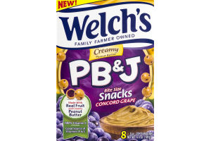 Welch's PB & J Bite Size Snacks Concord Grape - 8 CT