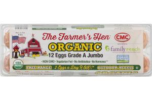 The Farmer's Hen Organic Eggs Grade A Jumbo - 12 CT