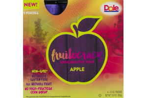 Dole Fruitocracy Squeezable Fruit Pouch Apple - 4 CT