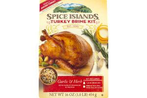 Spice Islands Turkey Brine Kit Garlic & Herb