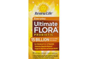 Renew Life Everyday Ultimate Flora Probiotic Vegetable Capsules - 30 CT