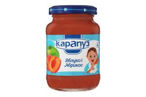 Пюре для дітей від 4міс з яблук і абрикос Карапуз с/б 200г