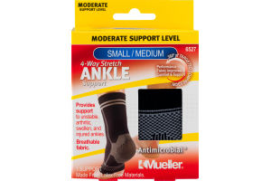 Mueller 4-Way Stretch Ankle Support Moderate Support Level Small/Medium
