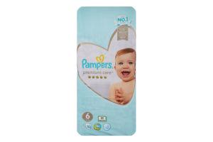 Подгузники для детей одноразовые 13+кг 6 Premium care Pampers 50шт