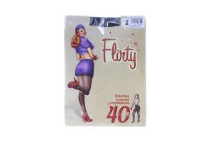 Колготки женские классические з шортиками Flirty 40den 2 черные