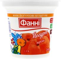 Йогурт 1.5% Персик Фанні ст 240г