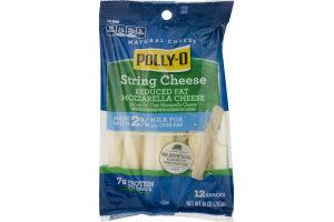 Polly-O Natural String Cheese Reduced Fat Mozzarella - 12 CT